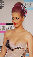 LOS ANGELES, CA - NOVEMBER 20: Katy Perry  arrives at the 2011 American Music Awards held at Nokia Theatre L.A. LIVE on November 20, 2011 in Los Angeles, California.