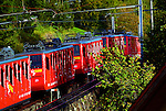 The line runs from Alpnachstad, on Lake Lucerne, to a terminus near the Esel summit of Mount Pilatus at an altitude of 6,801 ft.