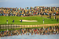 General view of the 1st green at the Ryder Cup, Le Golf National, Paris, France. 27/09/2018.<br /> Picture Phil Inglis / Golffile.ie<br /> <br /> All photo usage must carry mandatory copyright credit (© Golffile | Phil Inglis)