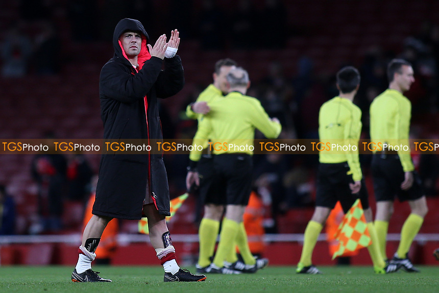 Arsenal's Jack Wilshere applauds the home fans at the end of the match during Arsenal vs CSKA Moscow, UEFA Europa League Football at the Emirates Stadium on 5th April 2018