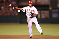 08/16/11 Anaheim, CA: Los Angeles Angels shortstop Erick Aybar #2 during an MLB game played between the Texas Rangers and the Los Angeles Angels at Angel Stadium. The Rangers defeated the Angels 7-3.