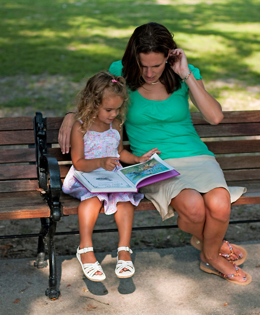 Reading to mom