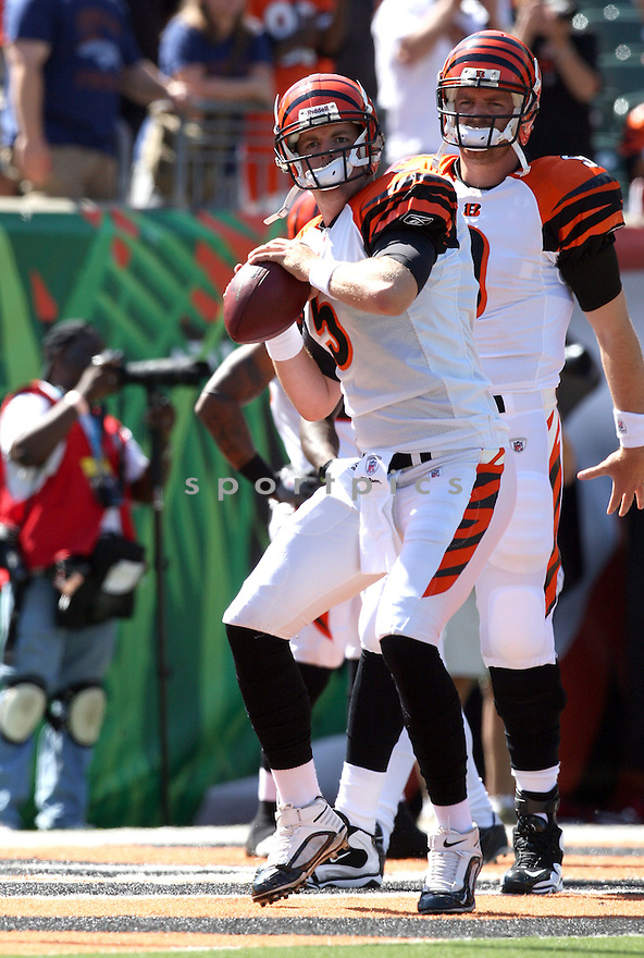 JORDAN PALMER,of the Cincinnati Bengals, in actions during the Bengals  game against the Denver Broncos  on September 13, 2009 in Cincinnati, OH  The Broncos beat the Bengals 12-7.