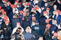 People gather in the Midtown Hilton at the election night victory rally for Republican presidential nominee Donald Trump, on Tues., Nov. 8, 2016. Trump was named president-elect in the early hours of Nov. 9, 2016.