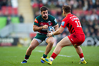 Gareth Owen of Leicester Tigers in possession. Gallagher Premiership match, between Leicester Tigers and Saracens on November 25, 2018 at Welford Road in Leicester, England. Photo by: Patrick Khachfe / JMP