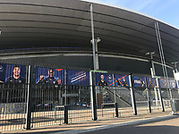 Stade de France Rückwärtiger Eingang - 15.10.2018: Pressekonferenz DFB vor dem Spiel Frankreich vs. Deutschland, 4. Spieltag UEFA Nations League, Stade de France, DISCLAIMER: DFB regulations prohibit any use of photographs as image sequences and/or quasi-video.