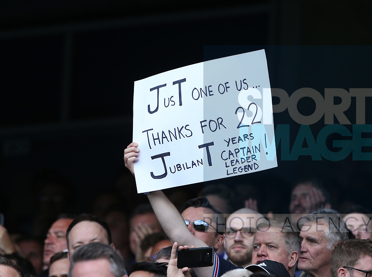 Chelsea's fans show their support for John Terry during the Premier League match at Stamford Bridge Stadium, London. Picture date: May 18th, 2017. Pic credit should read: David Klein/Sportimage
