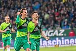 10.02.2019, Weser Stadion, Bremen, GER, 1.FBL, Werder Bremen vs FC Augsburg, <br /> <br /> DFL REGULATIONS PROHIBIT ANY USE OF PHOTOGRAPHS AS IMAGE SEQUENCES AND/OR QUASI-VIDEO.<br /> <br />  im Bild<br /> <br /> jubel tor 4:0 <br /> Kevin Möhwald / Moehwald (Werder Bremen #06)<br /> Sebastian Langkamp (Werder Bremen #15)<br /> <br /> Foto © nordphoto / Kokenge