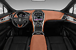 Stock photo of straight dashboard view of 2018 Lincoln MKX Black Label 5 Door Suv Dashboard