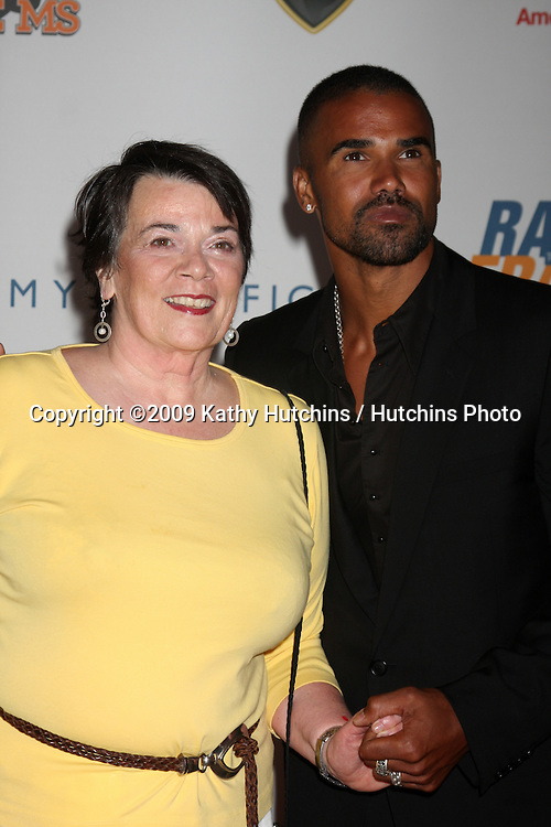 Marilyn Moore & Shemar Moore (Marily, Shemar's mother is fighting MS)  arriving at the Rock to Erase MS Gala at the Century Plaza Hotel in Century Ciy , CA  on May 8, 2009.©2009 Kathy Hutchins / Hutchins Photo....                .
