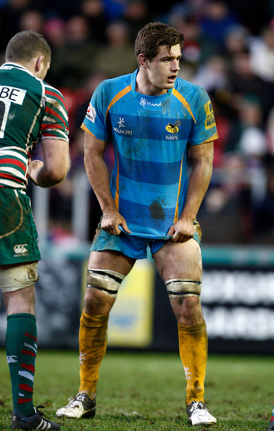 Photo: Richard Lane/Richard Lane Photography. Leicester Tigers v London Wasps. LV= Cup. 26/01/2013. Wasps' Sam Jones.