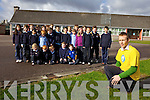 Teacher PJ Ryan from Castledrum national school, pictured with his class, is busy preparing for his first ever Dublin City Marathon on October 29th.