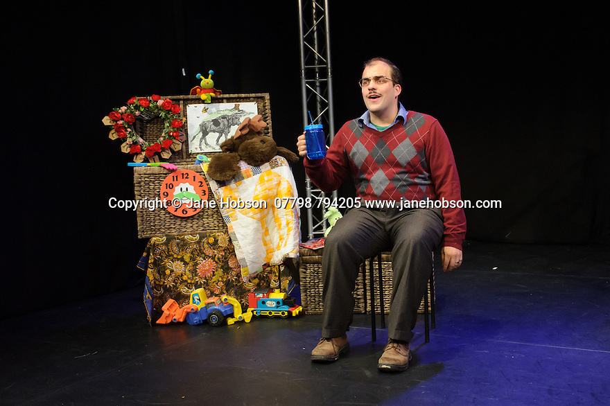 Edinburgh, UK. 16.08.2015. Tasty Monster Productions present FERDINAND, at Greenside Nicolson Square, written by Heather Bagnall, and starring Luke Tudball, as part of the Edinburgh Festival Fringe. Pictures taken during technical rehearsals. Photograph © Jane Hobson..