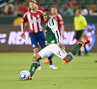 CARSON, CA – June 3, 2011: Portland Timbers Rodney Wallace (22)  during the match between Chivas USA and Portland Timbers at the Home Depot Center in Carson, California. Final score Chivas USA 1, Portland Timbers 0.
