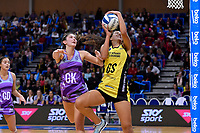 Pulse&rsquo; Aliyah Dunn and Stars&rsquo; Kate Burley in action during the ANZ Premiership - Pulse v Northern Stars at Te Rauparaha Arena, Porirua, New Zealand on Monday 25 June 2018.<br /> Photo by Masanori Udagawa. <br /> www.photowellington.photoshelter.com
