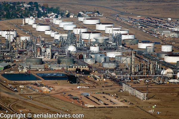 aerial photograph Sinclair Oil Refinery, Sinclair, Wyoming