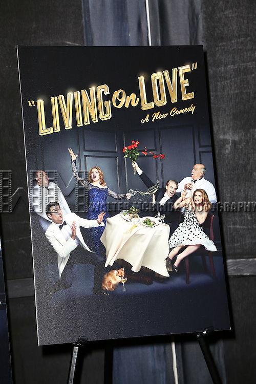 Theatre Poster at the Broadway Opening Night Performance After Party for 'Living on Love' at Sardi's on April 20, 2015 in New York City.