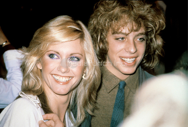 Leif Garrett &amp; Olivia Newton John photographed in May, 1981.<br /> &copy; Nancy Barr  / MediaPunch