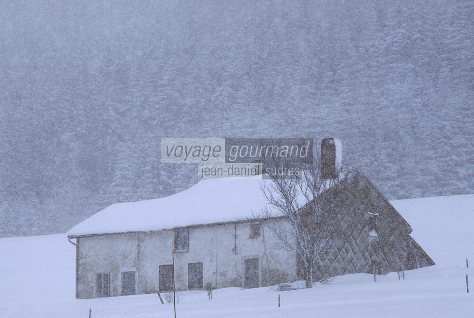Europe/France/Franche Comté/39 /Jura: Détail d'une ferme dans la vallée de la Valserine //  France, Jura, Detail of a farm in the valley of Valserine