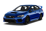 2018 Subaru WRX STI Base 4 Door Sedan angular front stock photos of front three quarter view