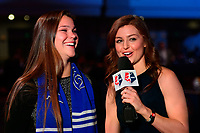 Philadelphia, PA - Thursday January 18, 2018: Joanna Boyles, Jordan Angeli during the 2018 NWSL College Draft at the Pennsylvania Convention Center.
