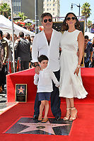 LOS ANGELES, CA. August 22, 2018: Simon Cowell, Lauren Silverman & Eric Cowell at the Hollywood Walk of Fame Star Ceremony honoring Simon Cowell.
