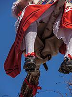 Hexen beim Umzug Nassereither Schellerlauf, Fasnacht in Nassereith, Bezirk Imst, Tirol, &Ouml;sterreich, Europa, immaterielles UNESCO Weltkulturerbe<br /> witches at parade of  Nassereither Schellerlauf-Fasnacht, Nassereith, Tyrol, Austria Europe, Intangible World Heritage