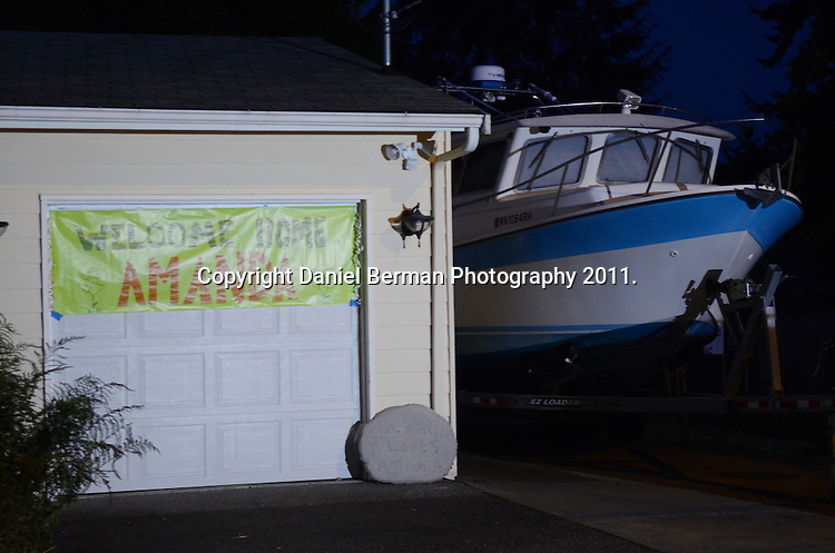 A view of Amanda Knox's mother's home in West Seattle following her brief address to the media Tuesday, Oct. 4 at Seattle-Tacoma International Airport. Photo by Daniel Berman/www.bermanphotos.com