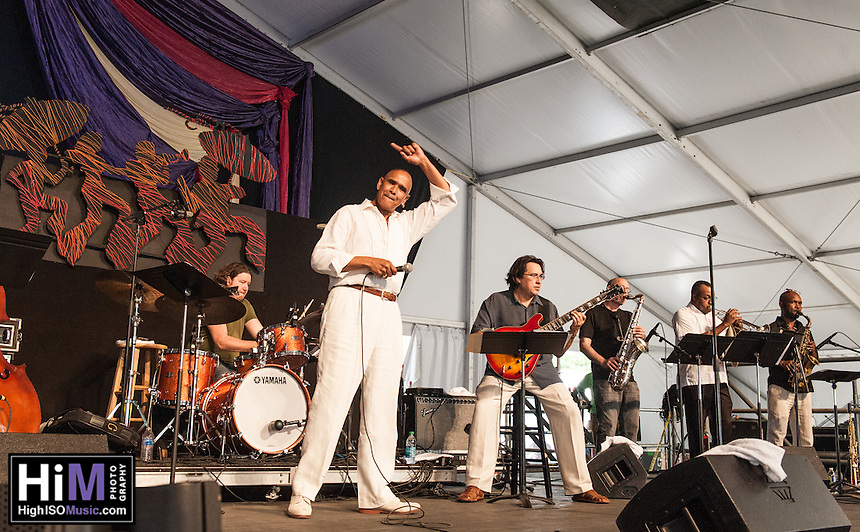 Philip Manuel performs at the 2014 Jazz and Heritage Festival in New Orleans, LA.