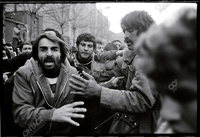 General Latifi is abducted by a mob after his car is hit by a Molotov cocktail in 24 of Esfand Square. Tehran, January 29, 1979.