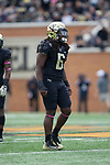 Jaboree Williams (6) of the Wake Forest Demon Deacons during first half action against the Louisville Cardinals at BB&T Field on October 28, 2017 in Winston-Salem, North Carolina.  The Demon Deacons defeated the Cardinals 42-32.  (Brian Westerholt/Sports On Film)