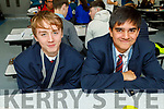 Garron McGorrin and Navansh Johnson from the Sem, Killarney at the ECO UNESCO Young Environmental Ideas Fest in Mercy Mounthawk school on Thursday.