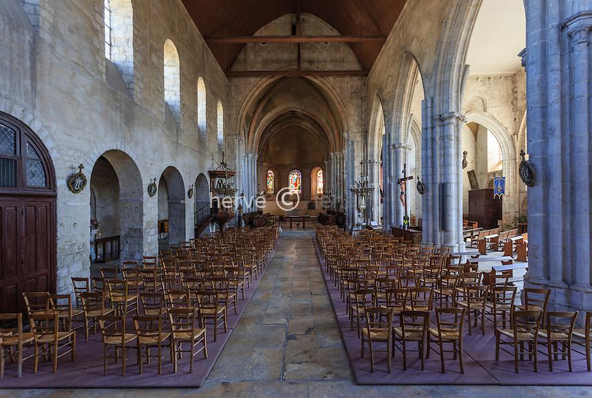 France, Seine-et-Marne (77) , Château-Landon, l'église Notre Dame // France, Seine et Marne, Chateau Landon, church Notre Dame