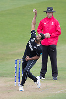 Ish Sodhi (New Zealand) in action during West Indies vs New Zealand, ICC World Cup Warm-Up Match Cricket at the Bristol County Ground on 28th May 2019
