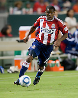 Chivas midfielder Michael Lahoud (11) move the ball up the field during the second half of the game between Chivas USA and the New England Revolution at the Home Depot Center in Carson, CA, on September 10, 2010. Chivas USA 2, New England Revolution 0.