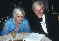 New York, NY<br />1978 <br />Lillian Carter and Andy Warhol at Studio 54<br />Credit:  Adam Scull-PHOTOlink/MediaPunch