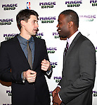 "Tug Coker & Kevin Daniels.attending the Broadway Opening Night Performance After Party for ""Magic / Bird"" at the Edison Ballroom in New York City on April 11, 2012"