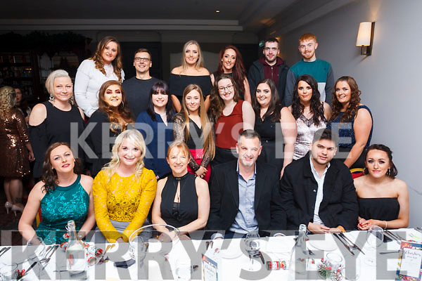 The staff of Byrnes Spar Oakpark, Monavalley and Caherslea  enjoying their Xmas party in the Ashe Hotel on Saturday evening.