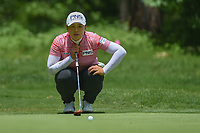 Amy Yang (KOR) lines up her putt on 1 during round 1 of the U.S. Women's Open Championship, Shoal Creek Country Club, at Birmingham, Alabama, USA. 5/31/2018.<br /> Picture: Golffile | Ken Murray<br /> <br /> All photo usage must carry mandatory copyright credit (&copy; Golffile | Ken Murray)