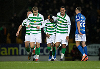 29th January 2020; McDairmid Park, Perth, Perth and Kinross, Scotland; Scottish Premiership Football, St Johnstone versus Celtic; Olivier Ntcham of Celtic is congratulated after scoring for 1-0 by Christopher Jullien