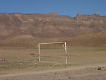 Goal posts in the Draa Valley in Morocco.