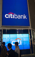 Citi Bank in  Shinjuku business district, Tokyo Japan