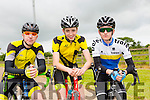 Darragh Looney, Hugh McSweeney and Stephen Griffin at the Tralee Manor West GP on Sunday