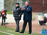 St Johnstone v Rangers...14.01.12  .Ally McCoist and Steve Lomas.Picture by Graeme Hart..Copyright Perthshire Picture Agency.Tel: 01738 623350  Mobile: 07990 594431
