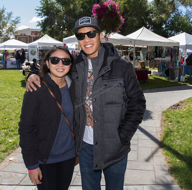 Connie and Ryan during the inaugural Bud and Brew Music Festival in Wingfield Park in downtown Reno on Saturday, Sept. 23, 2017.