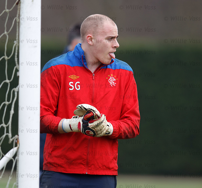 Scott Gallacher panting after a heavy session between the sticks