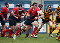 4 March 2013; Ballyclare skipper Jonny Darling on the attack during the schools cup semi-final clash between RBAI and Ballyclare High School at Ravenhill Belfast. Photo Credit : John Dickson / DICKSONDIGITAL