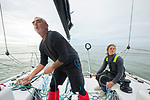 Training Session with Loïck Peyron and Amélie Grassi onboard a Figaro Beneteau 3, preparing for the Sardinha Cup and for La Solitaire Urgo Le Figaro.<br />