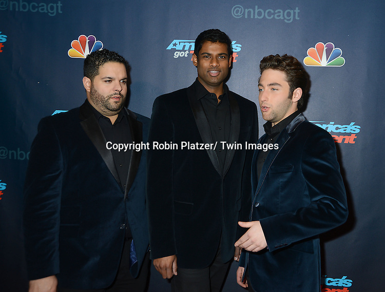 """Forte attends the """"America's Got Talent"""" pre show red carpet on September 17, 2013 at Radio City Music Hall in New York City."""