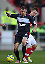 James Dunne of Stevenage is tackled by Lee Frecklington of Rotherham. Rotherham United v Stevenage - FA Cup 1st Round - New York Stadium, Rotherham - 3rd November 2012. © Kevin Coleman 2012.